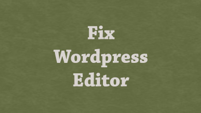 fix-wordpress-editor